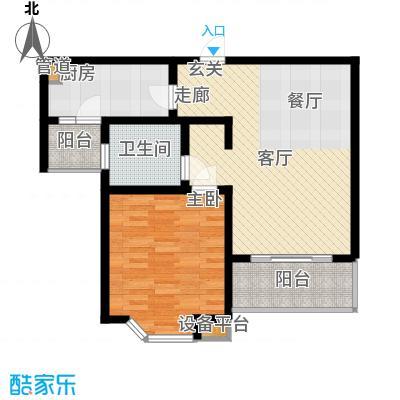 莘闵荣顺苑69.99㎡E2型户面积6999m户型