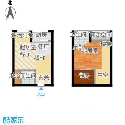久阳文华府邸58.00㎡面积5800m户型