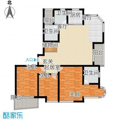 新时代富嘉花园157.54㎡E型面积15754m户型