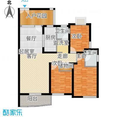 新时代富嘉花园130.87㎡上海面积13087m户型
