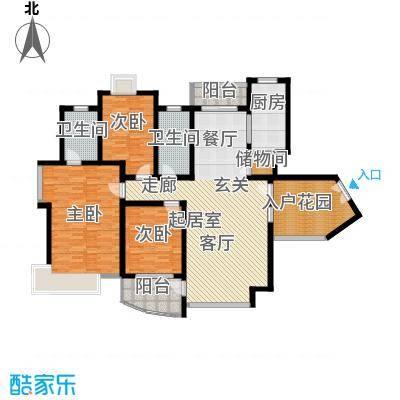 新时代富嘉花园148.92㎡H型面积14892m户型