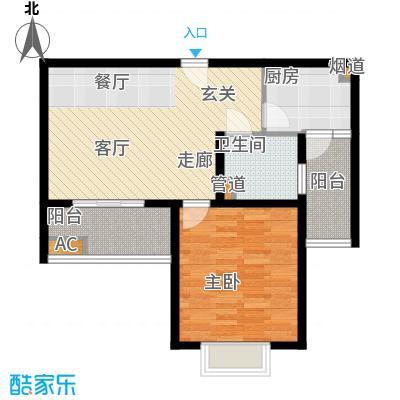 南洋博仕欣居65.91㎡上海康河原味()面积6591m户型