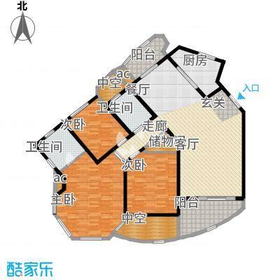 城市经典四期高迪165.00㎡D1面积16500m户型