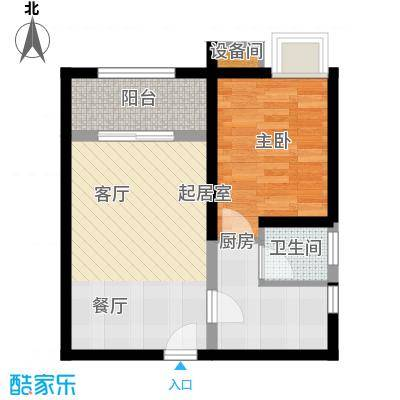 金鹤新城缘圆宝邸75.00㎡面积7500m户型