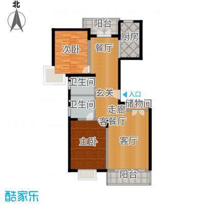 耀江国际广场公寓127.00㎡耀江国面积12700m户型