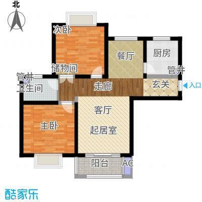 西上海名邸90.00㎡B1面积9000m户型