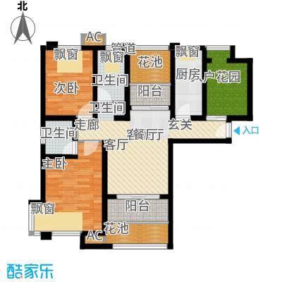 保利叶上海93.00㎡A42面积9300m户型