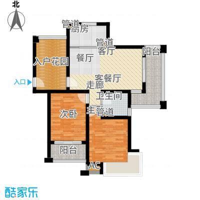 保利叶上海84.98㎡B3面积8498m户型