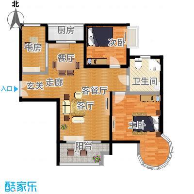 B2户型二房二厅一卫