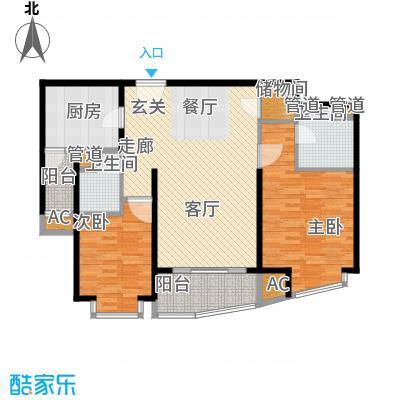莱诗邸7号楼2单元2室户型