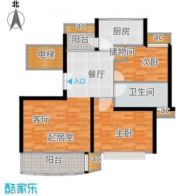 新梅共和城89.82㎡上海二期面积8982m户型