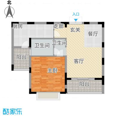 怡东花园90.00㎡面积9000m户型