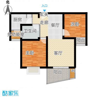 杉林新月家园85.00㎡上海面积8500m户型