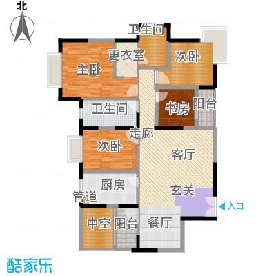 中海瀛台146.43㎡房型图面积14643m户型