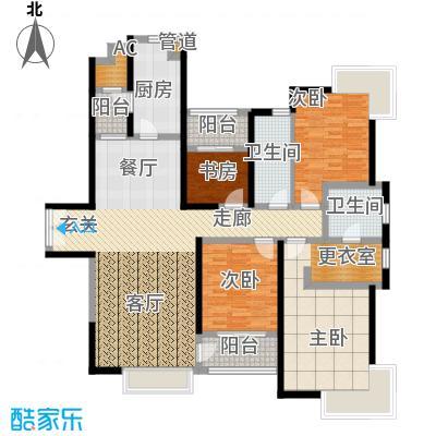 中海瀛台148.56㎡房型图面积14856m户型