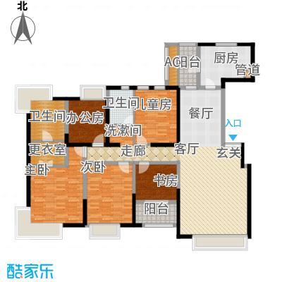 中海瀛台168.00㎡房型图面积16800m户型