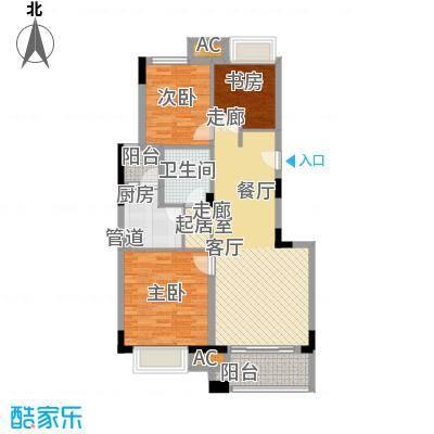中海瀛台89.00㎡房型图面积8900m户型
