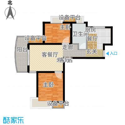 九城湖滨国际89.00㎡B4面积8900m户型