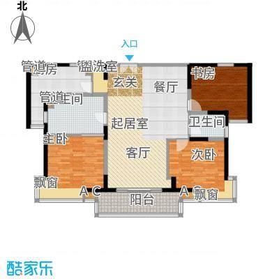 世博花园134.59㎡3号楼27号标准面积13459m户型