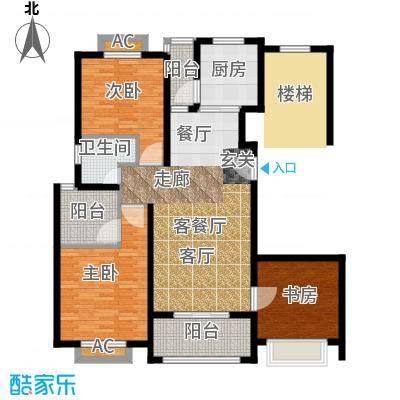 保利金爵公寓106.00㎡I型面积10600m户型