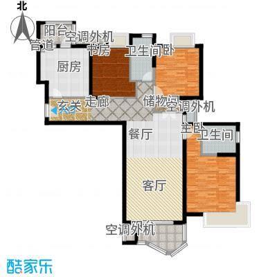 天山河畔花园145.35㎡上海二期面积14535m户型