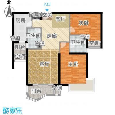 天山河畔花园108.59㎡上海二期面积10859m户型