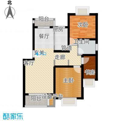 秀康新城康桥宝邸83.00㎡面积8300m户型