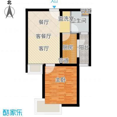 万邦都市花园56.75㎡上海五期面积5675m户型