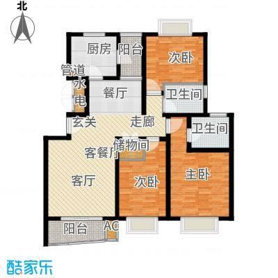 万邦都市花园121.90㎡上海五期面积12190m户型
