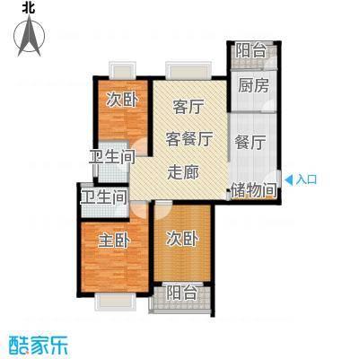 万邦都市花园135.88㎡上海五期面积13588m户型