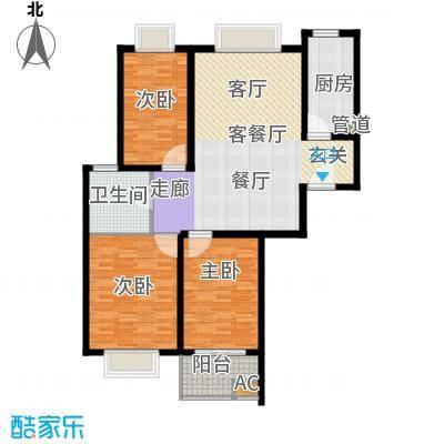 万邦都市花园110.00㎡上海五期面积11000m户型