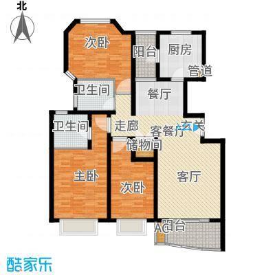 万邦都市花园129.06㎡上海五期面积12906m户型