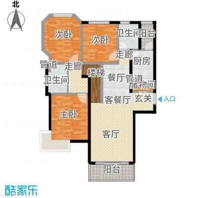 万邦都市花园132.55㎡上海五期面积13255m户型