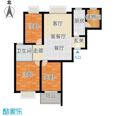 万邦都市花园116.00㎡上海五期面积11600m户型