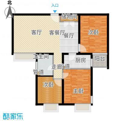 万邦都市花园117.77㎡上海五期面积11777m户型