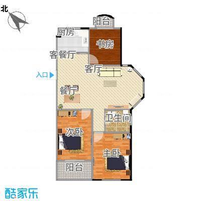 银河湾紫苑110平三室两厅