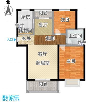 宝宸共和家园98.00㎡面积9800m户型