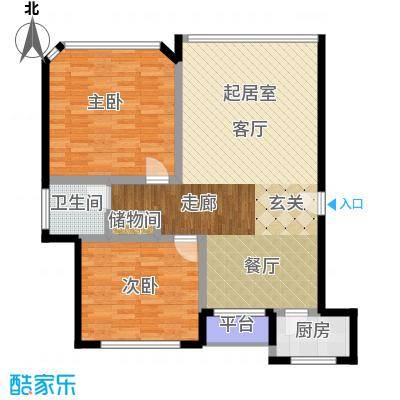 宝宸共和家园96.00㎡面积9600m户型
