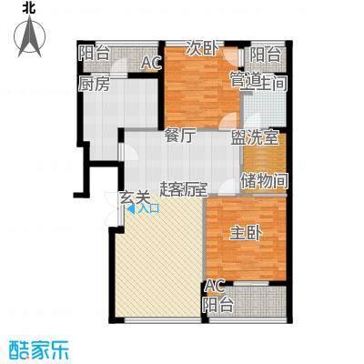 新浦江城102.97㎡上海面积10297m户型