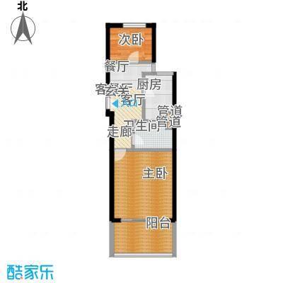 中福浦江汇60.14㎡A1户型