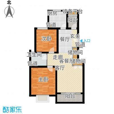 浦江颐城尚院88.00㎡B户型