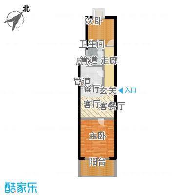 中福浦江汇68.32㎡A3户型