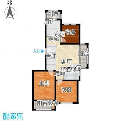 浦江颐城尚院88.00㎡A户型