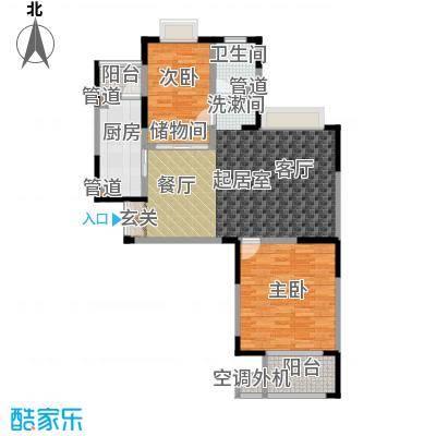 绿洲康城亲水湾89.00㎡G户型