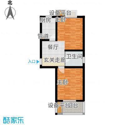 嘉宝都市港湾城74.00㎡上海面积7400m户型