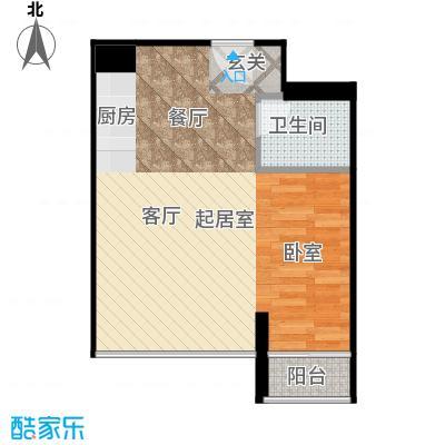 悉尼绿地中心42.00㎡单间公寓户型
