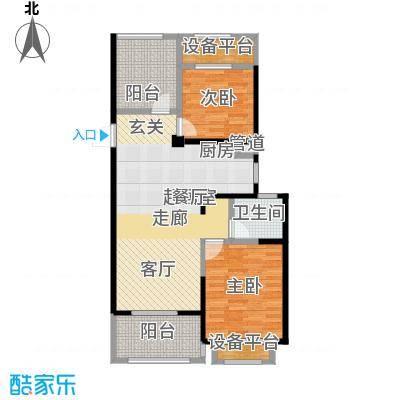 常发香城湾89.00㎡光榭8号楼D户型