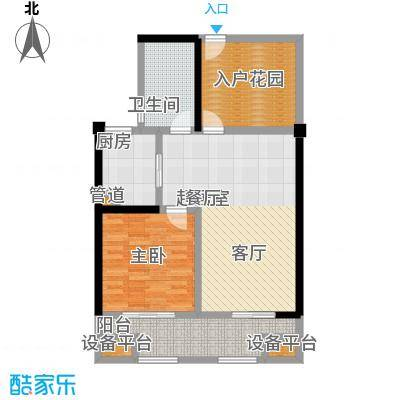 常发香城湾86.00㎡光榭8号楼C户型