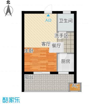 云澜湾45.00㎡A户型