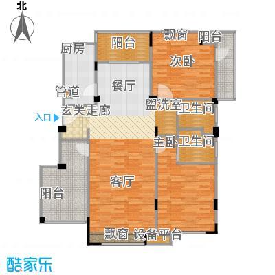 浦发御园113.00㎡8#G5东边户三层户型
